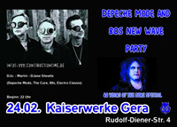 Depeche Mode & 80's New Wave Party +++ 40 Years Of The Cure Spezial +++ in den Kaiserwerken Gera